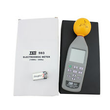 TES-593 3 Axis ElectroSmog Meter Frequency EMF Safety Tester 10Mhz 8.0GHz