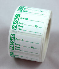 1000 MINI PAT Test / Testing PASS Labels Non Rip, PASSED Stickers + 100 FAILS