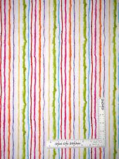 Loralie Sweetie Fabric - Candy Stripe Multicolor on White Loralie Harris - Yard