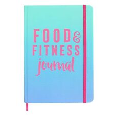 A5 Notebook Food & Fitness Journal Hardback Slimming Weight loss control Diary