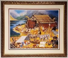 """In the Beginning Was the Word: Noah's Ark"" Jeanne Marston 1983 child's room art"