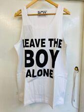 BOY LONDON OG VINTAGE LEAVE THE BOY VEST WHT UNISEX ONESIZE SELFRIDGES PUNK