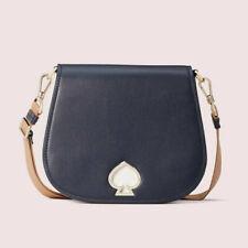 Kate Spade suzy large saddle bag Leather Crossbody Two Straps ~NWT~ Blue