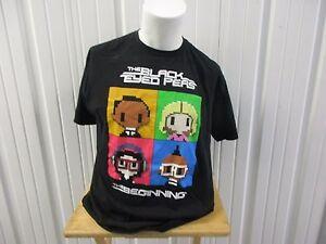 VINTAGE BLACK EYE PEAS BEGINNING TOUR 2011 MIAMI LARGE BLACK SHIRT W/ TOUR DATE