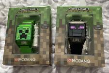 Minecraft Mojang Boys Flashing Creeper Face LCD Digital Wrist Watch Green Age 6