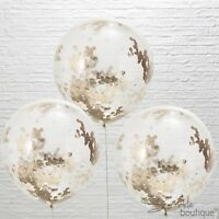 ROSE GOLD CONFETTI BALLOONS - 2 Sizes! - Wedding/Party Decoration - Metallic