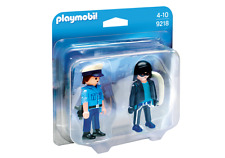 """playmobil Set double Lot De 2 Figurines Dans La Série Et° 9218 """" Policier &"""