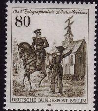Alemania estampillada sin montar o nunca montada sello Deutsche Bundespost BERLIN 1983 óptico telegráfico SG B655