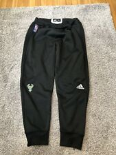 Authentic Adidas NBA Milwaukee Bucks Player Issued Game Warmup Pants Size XL