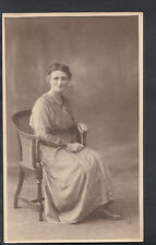 Genealogy Postcard - Ancestors Photo - Lady Sat In a Chair, Doncaster   RS5295