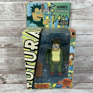 Futurama Hermes Conrad with Roberto build-a-bot part by Toynami Toy