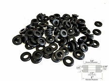 "20 Rubber Grommets 1/2"" Inside Diameter - Fits 3/4"" Panel Hole - 1/4"" Thick"