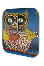 Wall Clock Kitchen Decor  owl guitar Printed Acryl Acrylglass