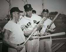 1960 Ted Williams Checks out Maris and Mantle Bats 11x14 Archival Photo