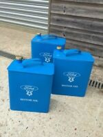 Ford oil can/ petrol can storage boxes with removable lid- 3 sizes