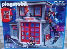PLAYMOBIL -5981-LA CASERNE DES POMPIERS-77 PIECES- NEUF SCELLE-.SUPERBE !