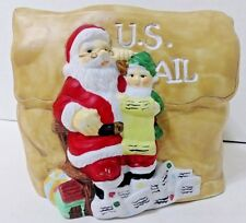 Vintage Santa Checking His List For The Mail Planter -1996- Harbert Industries