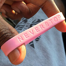 NEVERSTOP - Band Silicone Rubber Bracelet Wristband.Adult Size Brand New