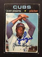 Juan Pizarro Cubs Signed 1971 Topps High # Baseball Card #647 Auto Autograph