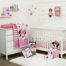 Disney Minnie Mouse Loves Dots 3 piece Crib Bedding Set and Keepsake Storage Box