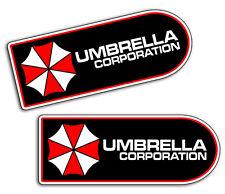 2 x Umbrella Corporation Resident Evil Vinyl Decal Gamer Sticker Zombie car JDM