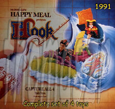 HOOK movie toy set (all 4) - McD McDonald's/Amblin Entertainment (1991) *NIOP