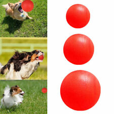 Safe Indestructible Solid Rubber Ball Pet Dog Training Chew Play Fetch Bite Toys