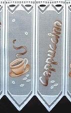 Kaffee Küchengardine Scheibengardine 1 Teil von 24 cm Cappuccino Bistrogardine