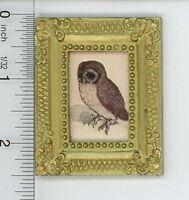 Dollhouse Miniature 1:12 Gold Framed Print of an Durer Owl