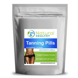 60 Tan Pills -Tanning Tablets Natural Tan & Slim High Quality UK Product
