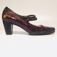 ECCO Mary Jane Pumps Marbled Brown Shoes Women EUR SZ 41 US SZ 10-10.5