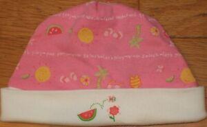 NEW Vtg 2002 GYMBOREE Fruit Punch BEANIE Cap HAT Watermelon Splash NB 0-3 mo NWT