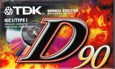 TDK D 90 NORMAL POSITION TYPE I BLANK AUDIO CASSETTE - 1997