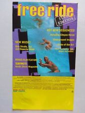 """Orig 1983 """"Free Ride - Final Edition"""" Surf Movie Poster 11"""" x 18.5"""" - Vg+"""