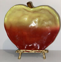 Vintage Russ Berrie Ceramic Hand Painted Fruit Bowl - Apple Dish