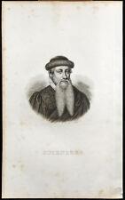 Portrait (1834) - Gutenberg - Imprimerie - Gravure