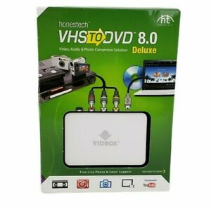 Honestech VIDBOX VHS to DVD 8.0 Deluxe New Video,Audio,Photo Conversion Solution
