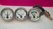 Minneapolis Moline Tractor Temperature  Oil Pressure  Ammeter Gauge Kit chrome