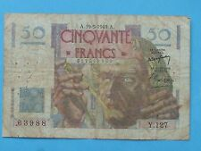 billet 50 francs 1949 le verrier