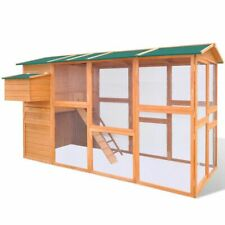vidaXL Chicken Coop Cage Hens Feeding House Small Animal Hutch Shelter Wood