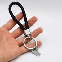 Men Black PU Leather Key Chain Ring Keyfob Car Keyring Key Chain T9X1