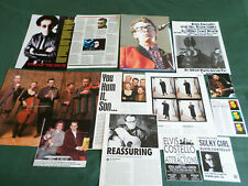 ELVIS COSTELLO  - ROCK/ ROLL / POP  MUSIC  - CLIPPINGS /CUTTINGS PACK
