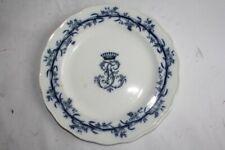 Assiette porcelaine Couronne comtale Brown Westhead & Moore Lobelio (51142)