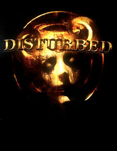 DISTURBED cd lgo HORN MASK Official Babydoll SHIRT SMALL New oop
