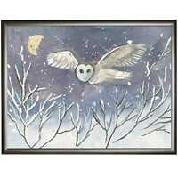 BARN OWL ORIGINAL PRINT OF WATERCOLOUR PAINTING BY DIANE ANTONE IDEAL XMAS GIFT