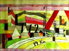 Quality Hand Painted Oil Painting Repro Paul Klee Station L112 30x40in