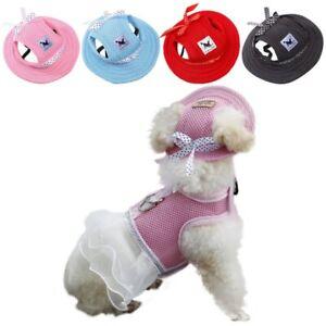 Puppy Dog Cat Baseball Cap Sunbonnet Strap Neck Summer Pet Canvas Dogs Visor Hat