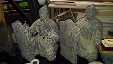 COPPIA STATUE - SCULTURE - SAMURAI - FERMA LIBRI - ANTIKIDEA