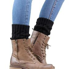 Fashion Women Winter Knit Crochet Knee High Boot Cover Socks Leg Warmers