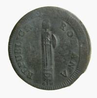 s760_3)  Repubblica Romana 2 Baiocchi 1798 - 1799 Senza Data - G H  RARO